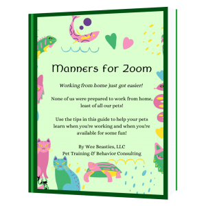 Free Manners for Zoom Guide for helping you and your pet survive videoconferences
